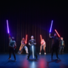 Performing Arts students with lightsabers